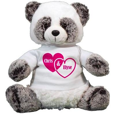 "$12.98 Couples Hearts Panda 12"" Bear (Dealmoon Exclusive)"