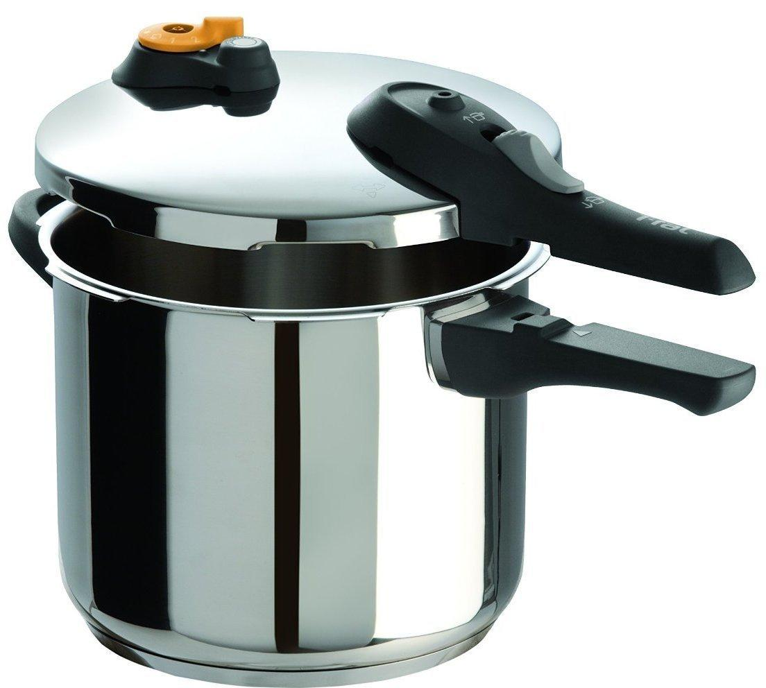T-fal P25107 Stainless Steel Pressure Cooker Cookware, 8.5-Quart