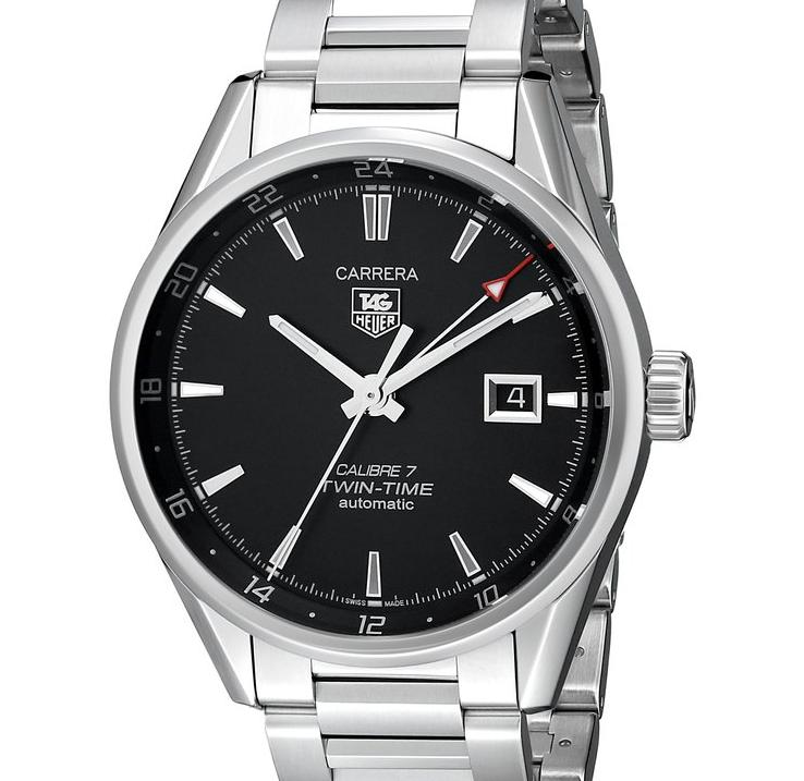 $1795 TAG Heuer Men's WAR2010.BA0723 Carrera Analog Display Swiss Automatic Silver Watch