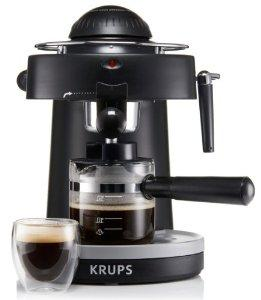 $29.99 KRUPS XP1000 Steam Espresso Machine with Frothing Nozzle for Cappuccino, Black