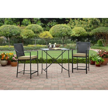 $99 Braddock Heights 3-Piece High Outdoor Bistro Set, Seats 2