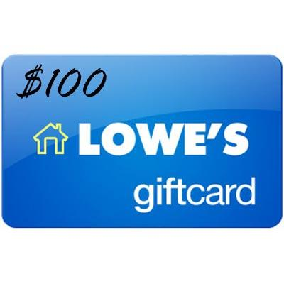 $90 Lowes Gift Card $100