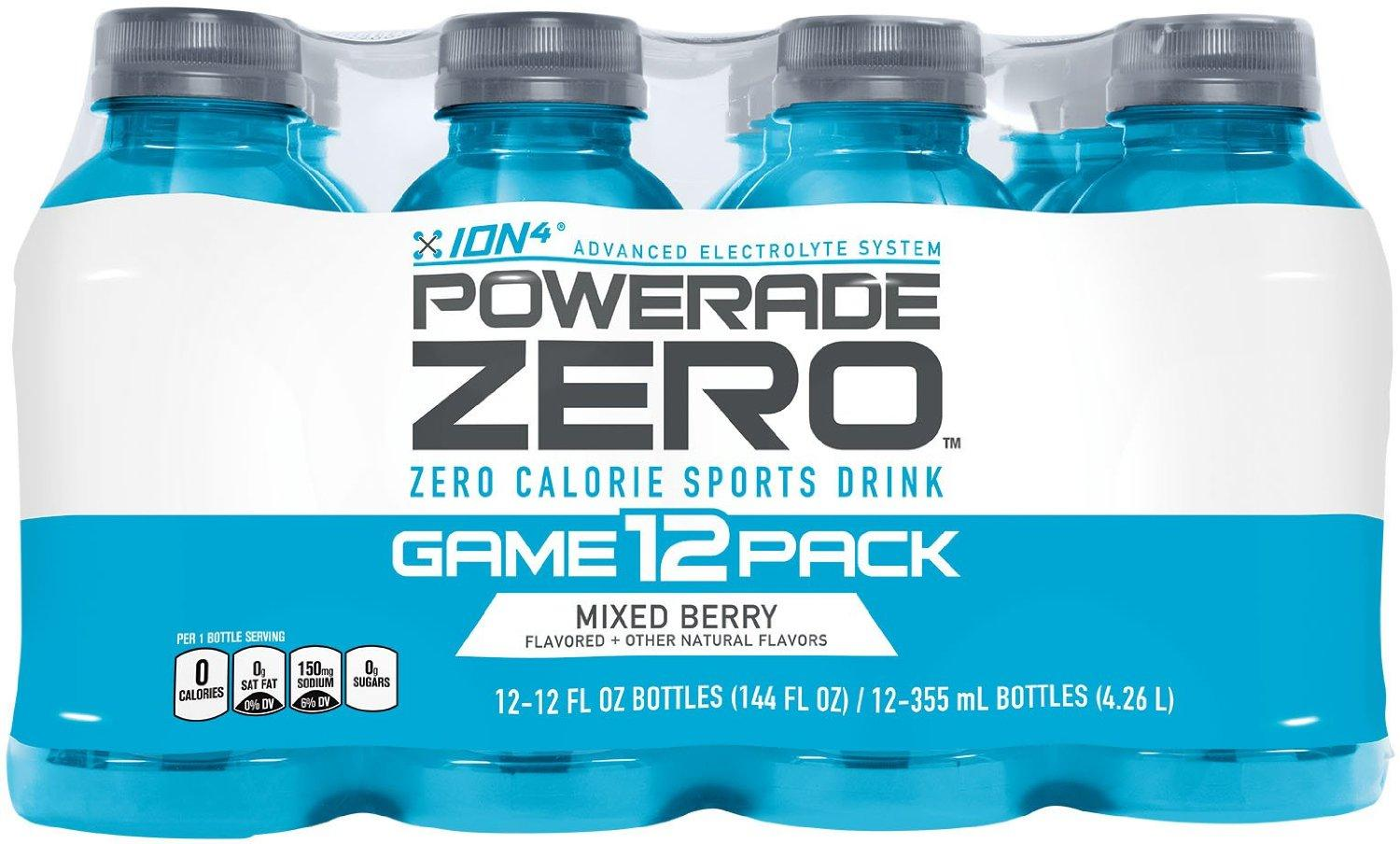From $3.6 POWERADE ZERO Mixed Berry, 12 ct, 12 FL OZ Bottle