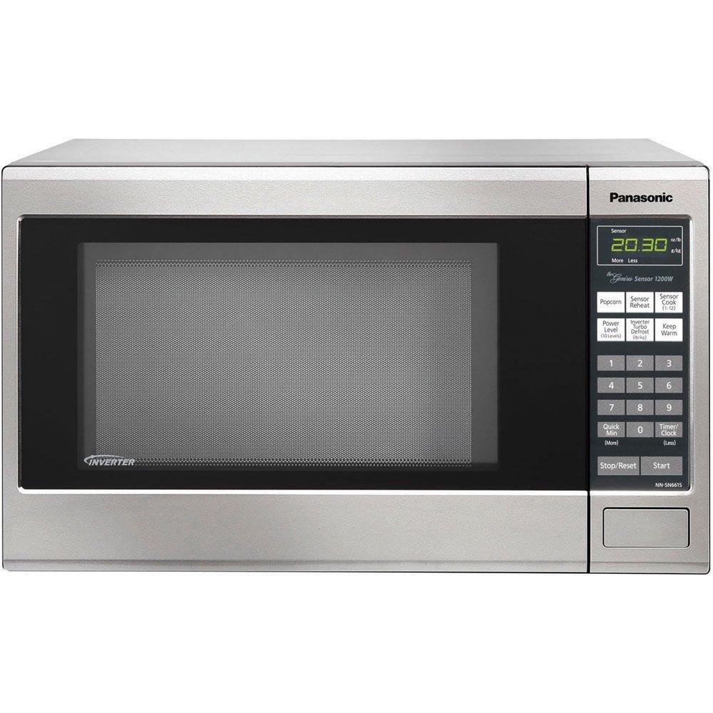 $99.99 Panasonic 1200W 1.2 Cu. Ft. Countertop Microwave Oven with Inverter Technology NN-SN661S Stainless
