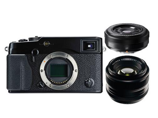 Fujifilm X-Pro1 Mirrorless Digital Camera with 27mm and 35mm