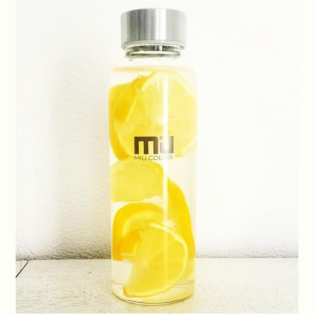 MIU COLOR® Glass Water Bottle with Colorful Nylon Sleeve