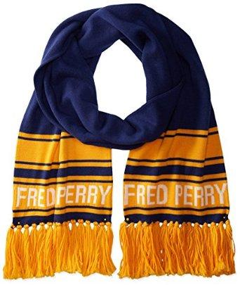 $26.16 Fred Perry Men's Ski Scarf, Medieval Blue, One Size
