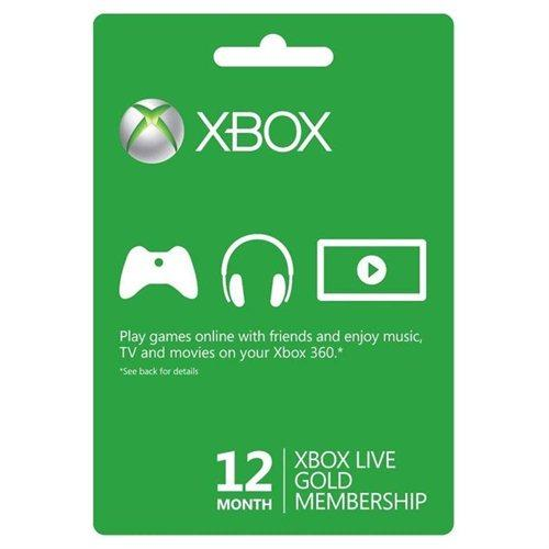 $29.99 Xbox 360 Live 12-Month Gold Membership Subscription Card