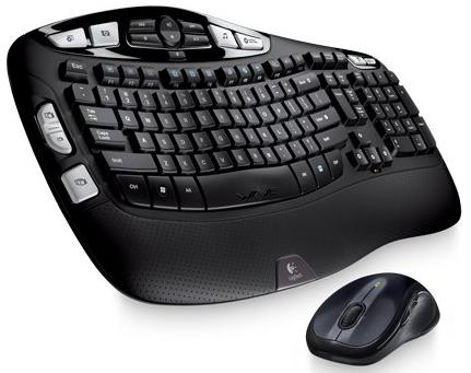 $39.74 Logitech Wireless Wave Combo Mk550 With Keyboard and Laser Mouse