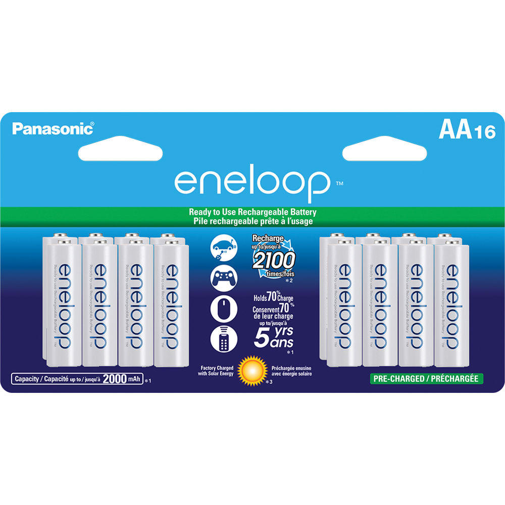$39.99 16 Pack Panasonic Eneloop Battery + FREE $25 eGift Card