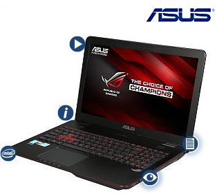 "$999 Asus Rog GL551JW-DS71 Intel Haswell Core i7 2.6GHz 15.6"" 1080p Laptop"