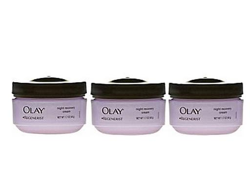 Olay Regenerist Intense Moisturization Night Recovery Cream - 3 Pack