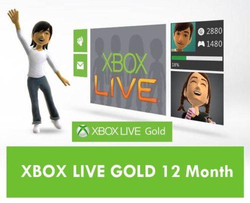$36.99 Microsoft Xbox LIVE 12 Month Gold Membership for Xbox 360 / XBOX ONE