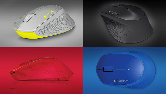 Logitech Wireless Mouse M320(multicolors available)