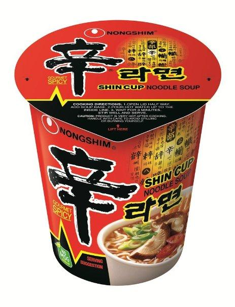 $10.35 Nongshim Shin Noodle Cup, 2.64 Ounce Packages (Pack of 12)