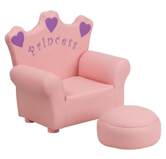 Flash Furniture Kids Princess Chair and Footrest