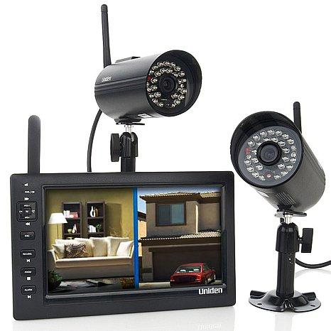 Uniden UDS655 7-Inch Video Surveillance with 2 Outdoor Cameras and 4GB MicroSD Card
