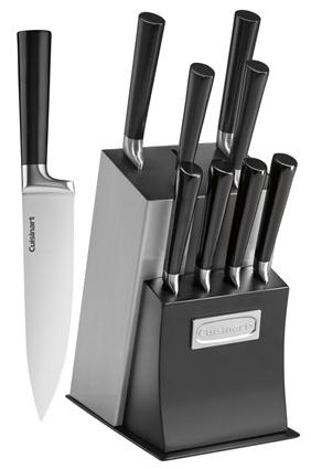 $33.00 Cuisinart Vetrano Collection 11-Piece Stainless Steel Cutlery Knife Block Set