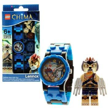 "$12.99 LEGO Kids' 8020080 ""Legends of Chima Lennox"" Watch with Link Bracelet and Figurine"
