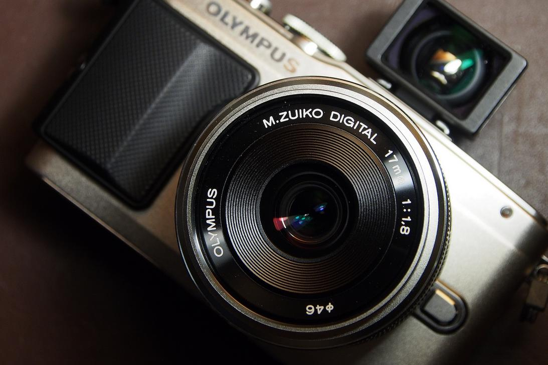 $599.99 Olympus E-P5 16.1 MP Mirrorless Digital Camera with 3-Inch LCD and 17mm f/1.8 lens+VF-4 VIEWFINDER