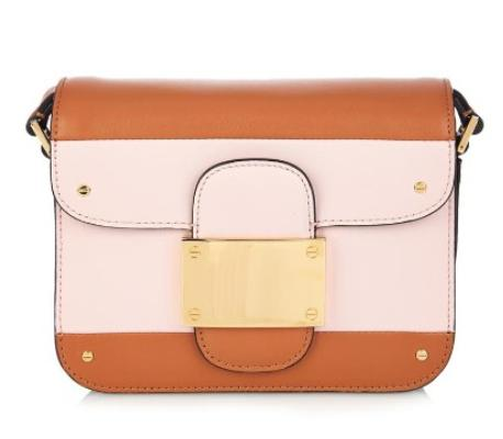 VALENTINO Colour-block striped leather shoulder bag @ MATCHESFASHION.COM