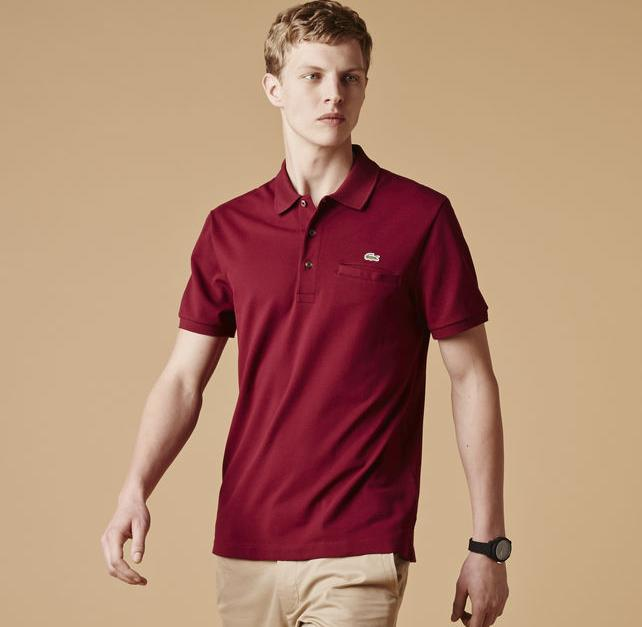 Regular Fit Stretch Pique Polo With Pocket @ Lacoste