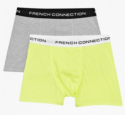 French Connection Men's Larry Boxer Shorts 2-Pack
