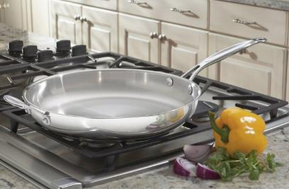 Best seller! Cuisinart 722-30G Chef's Classic 12-Inch Skillet with Glass Cover