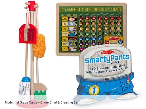 $37.99 Melissa & Doug Responsibility Bundles: Chore Chart, Cleaning Set, and Smarty Pants Brain-Building Cards @ Woot!