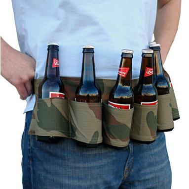 $6.99 Party Beer & Soda Can Belt 6 Pack Holster - Great For Beer Lovers