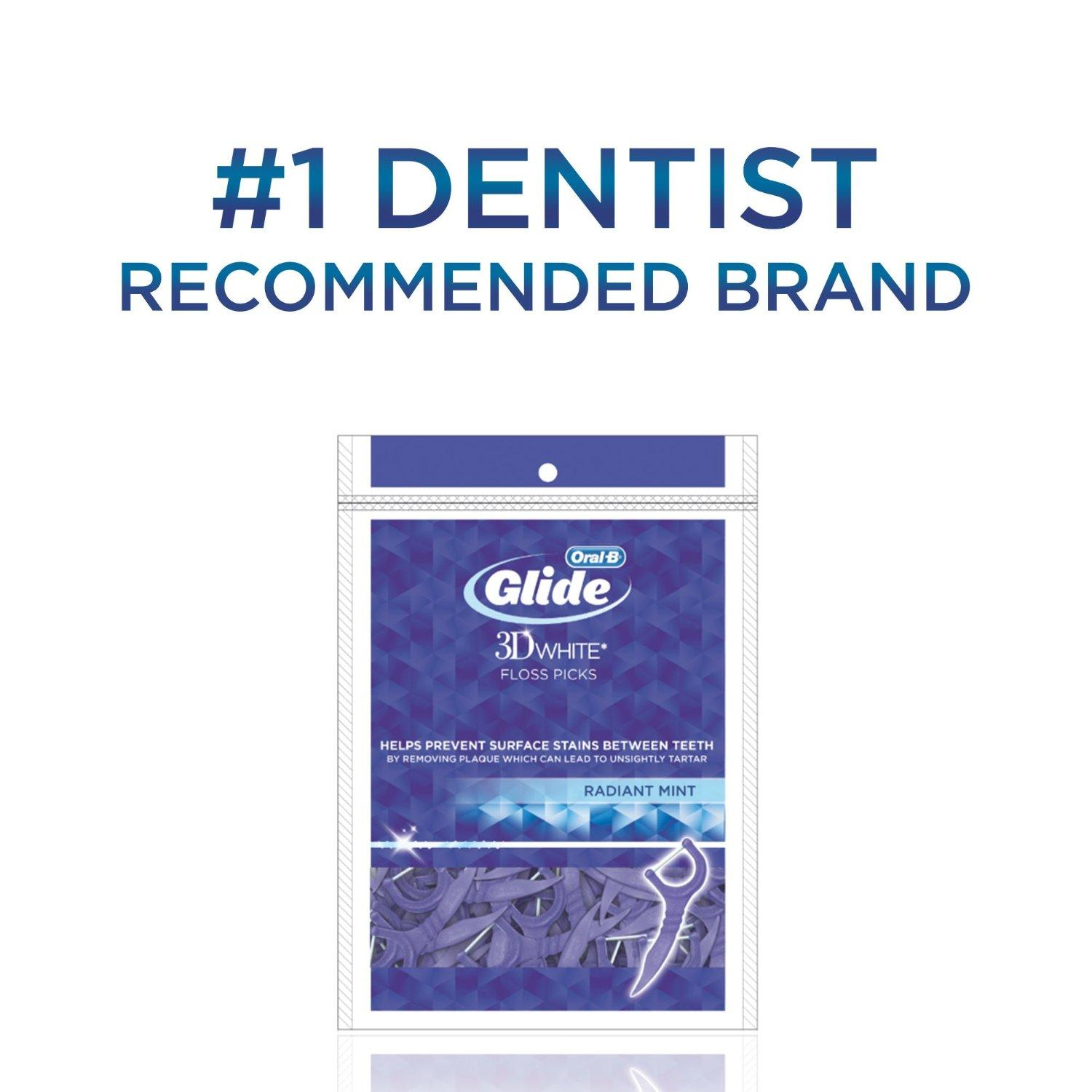 $2.34 Oral-B Glide 3d White Floss Picks Radiant Mint, 75 Count