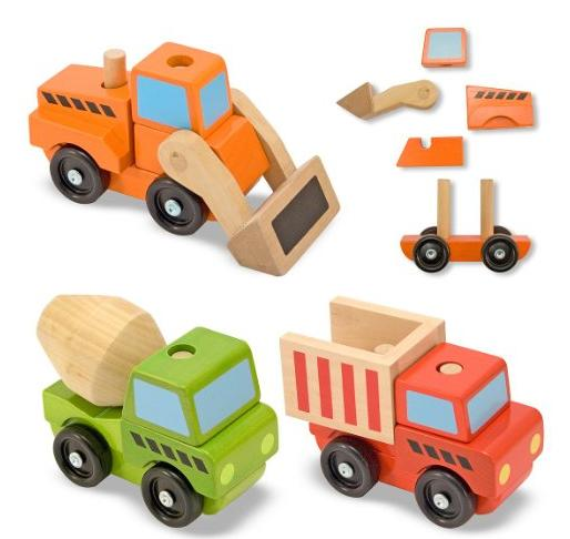 Melissa & Doug Stacking Construction Vehicles @ Amazon.com