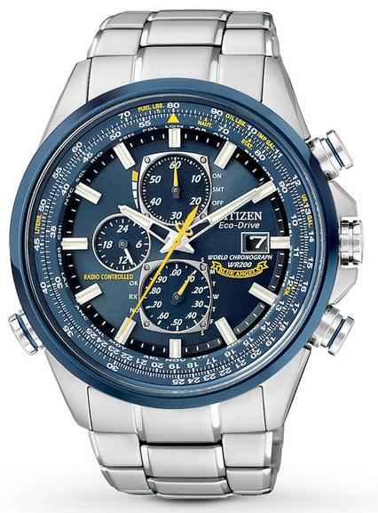 "$278.99 Citizen Men's AT8020-54L ""Blue Angels"" Stainless Steel Eco-Drive Dress Watch"