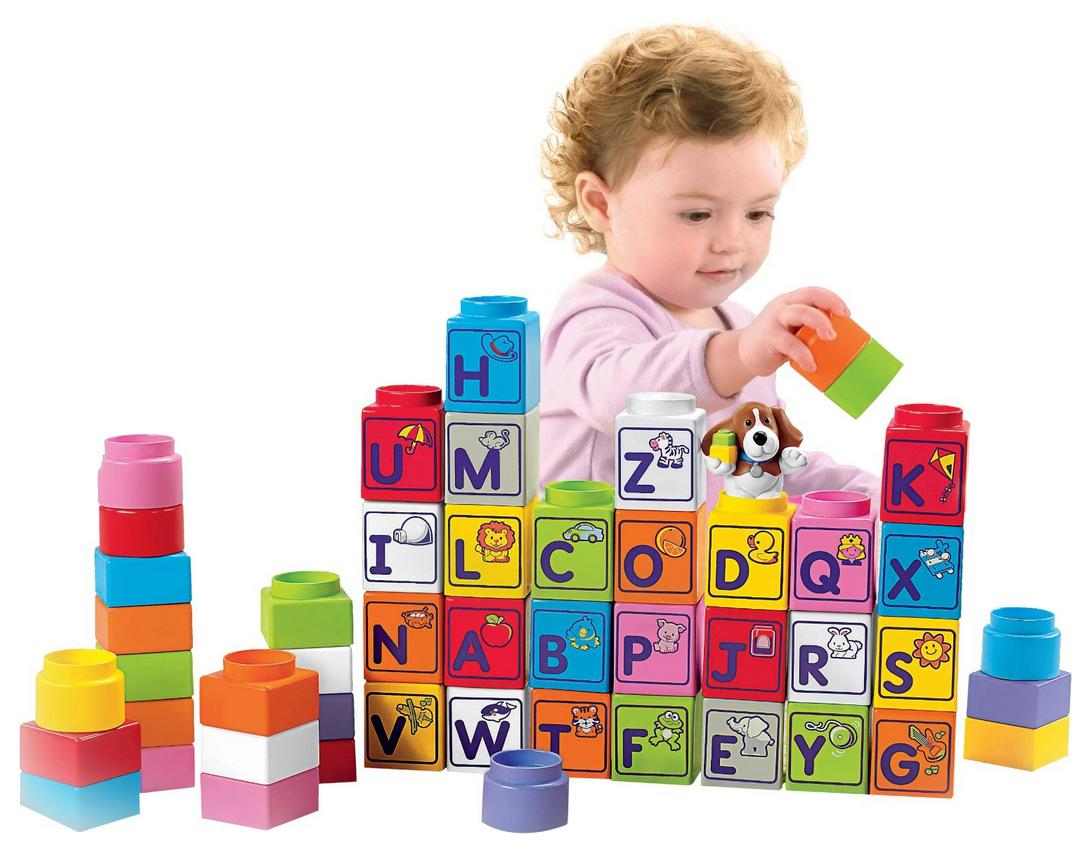 $9.99 Fisher-Price Little People Builders Stack 'n Learn Alphabet Blocks @ Amazon.com