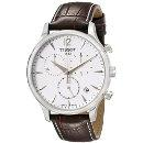 Tissot Men's T063.617.16.037.00 Stainless Steel Tradition Watch with Textured Leather Band: