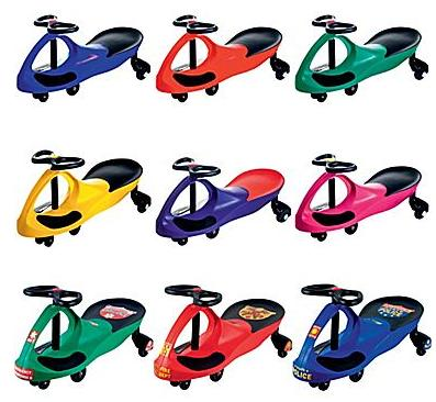 Lil' Rider Wiggle Ride-on Cars, Assorted Colors/Styles