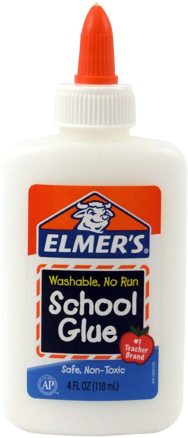 #1 Best Seller! $0.50 Elmer's Washable No-Run School Glue, 4 oz, 1 Bottle (E304)