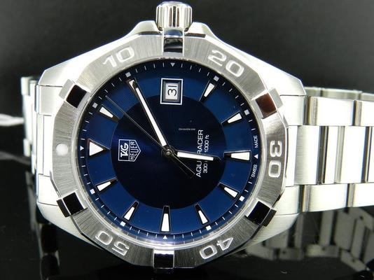 $950 Tag Heuer Aquaracer Blue Dial Stainless Steel Men's Watch WAY1112.BA0910