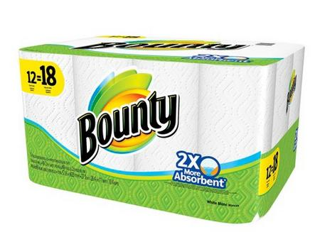 $27.98 Bounty White Paper Towels 24 Giant Rolls  + $5 Target Gift Card