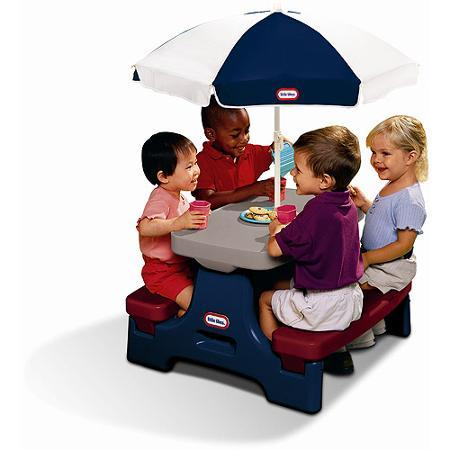 $39.16 Little Tikes Easy Store Jr. Table With Umbrella