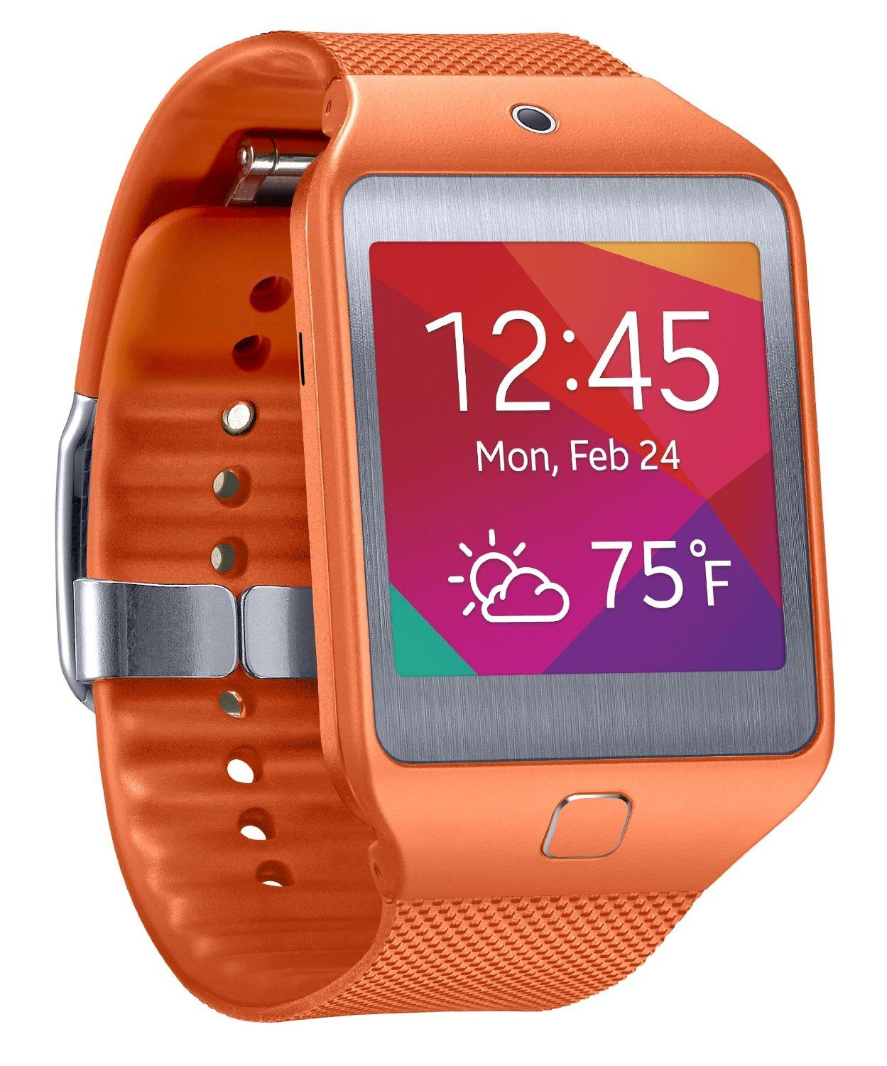 $133 Samsung Gear 2 Neo Smartwatch - Orange (US Warranty)