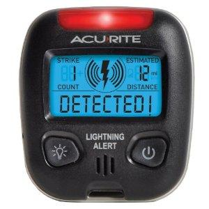 $24.99 AcuRite 02020 Portable Lightning Detector - Sport Weather Monitors