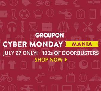 From $8.99 Groupon Cyber Monday MANIA!