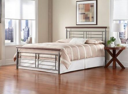 $244.46 Leggett & Platt Fashion Bed Group Fontane Metal Bed, Queen