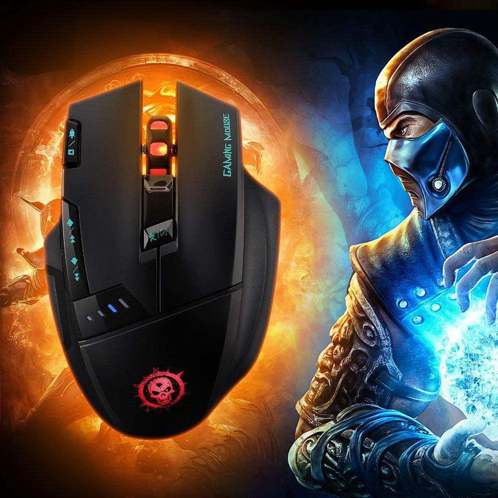 $12.99 Mpow Dragon Slayer Wireless Optical Gaming Game Mouse