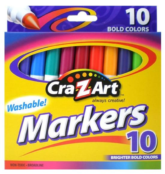 $0.5 Cra-Z-art Bold Washable Markers, Box of 10