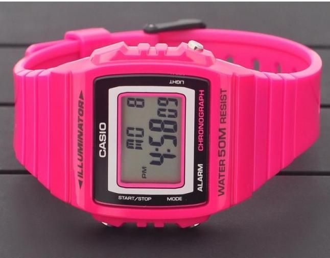 $12 Casio Kids W215H-4A Classic Digital Stop Watch