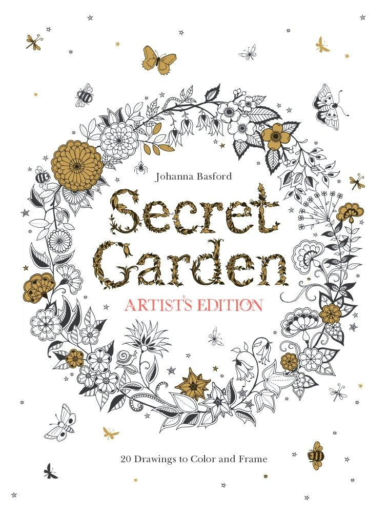 $15.11 Secret Garden Artist's Edition: 20 Drawings to Color and Frame