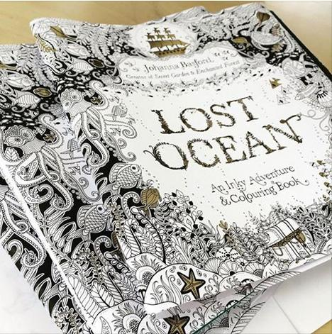 $11.59 Lost Ocean: An Inky Adventure and Coloring Book