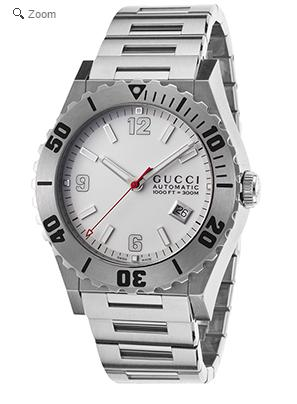$799.99 Gucci Men's Pantheon Automatic Stainless Steel White Dial Watch @ The Watchery